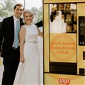 The Rev. Andrew Lay and Ally Lay were married May 23. A Lay's potato chip vending machine was a star attraction at their downsized reception.