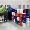 United Methodists in Theodore, Alabama, welcomed 304 buckets full of cleaning supplies from Holston Conference last night. The buckets will be distributed throughout storm-damaged parts of the Alabama-West Florida Conference.